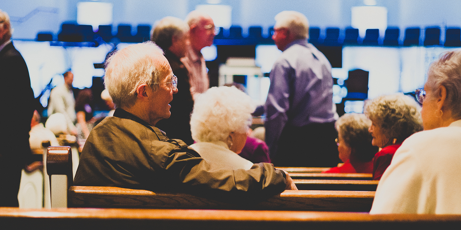Elderly Couple At Church Web
