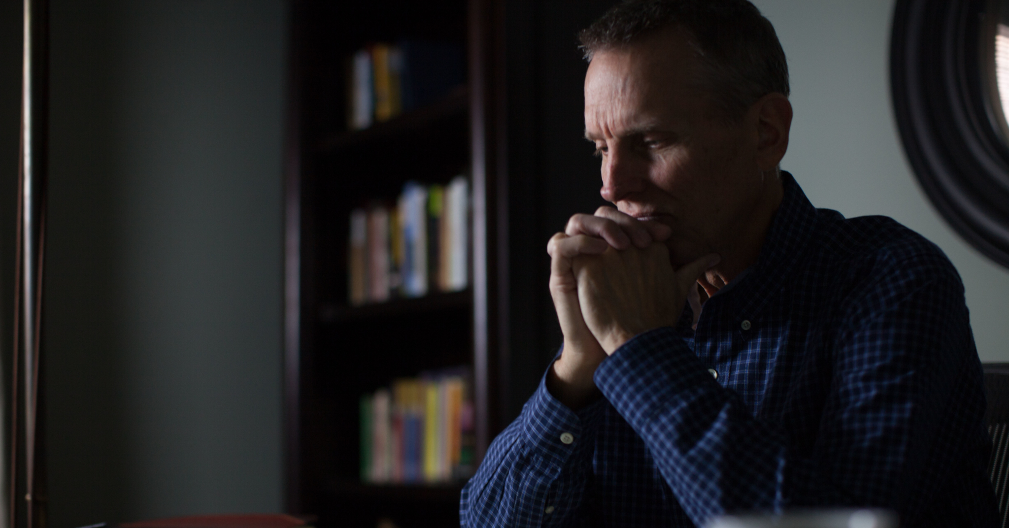 Pastor Praying Blue Shirt Resized For Web